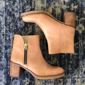 Anthropologie Light Brown Leather Boots